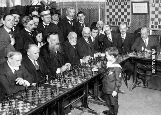 Reshevsky, at age eight, defeating several chess masters in France!