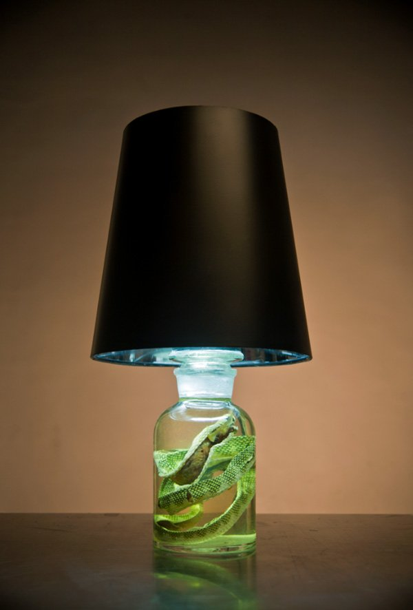 Jargon Lamp with Snake