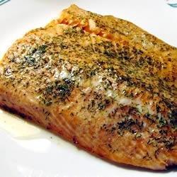 Wine-Baked Salmon