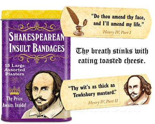Shakespearean Insult Bandages