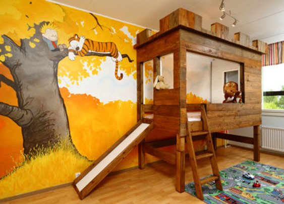 'Calvin and Hobbes' Kids Bedroom