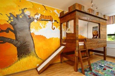 'Calvin and Hobbes' Kids Bedroom