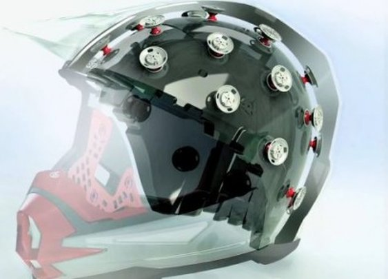 ATR-1 helmet protects the rider with an internal suspension system