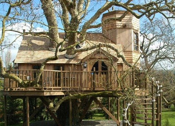 20 Tree House Pictures: Play-Club Plans to Big-Kid Houses | Designs & Ideas on Dornob