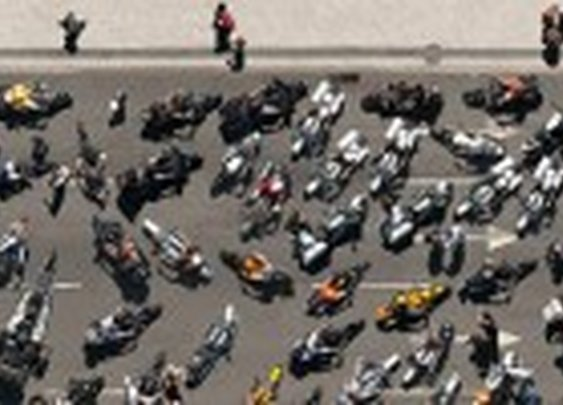 +400 Harleys on an aerial photography 3 meters wide