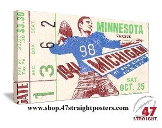 Michigan football art, college football art, game room art
