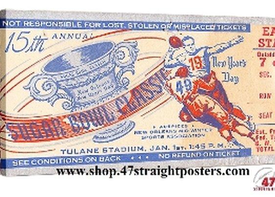 Football Art, Vintage Football Art, OU Football Art