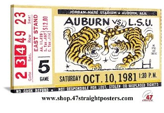 Father's Day Gift Ideas for sports fans! 1981 Auburn vs. LSU