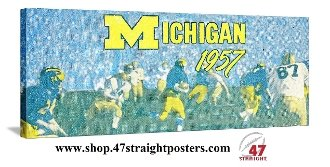 Michigan football art, Father's Day Gifts for sports fans