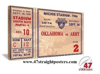 Army Football Art, college football art, vintage football art