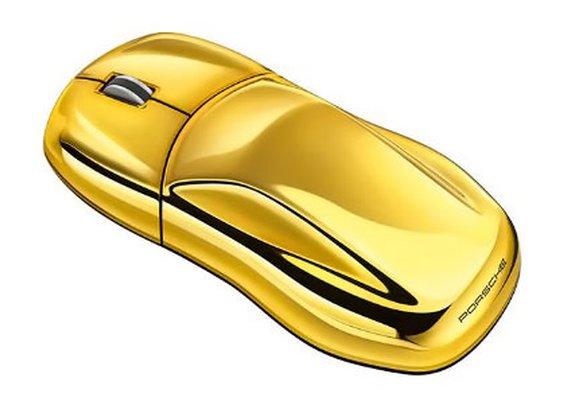 OEM Gold Porsche Computer Mouse
