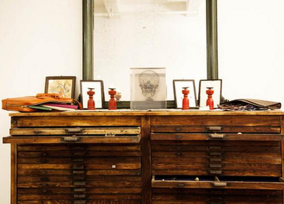 Dedicated dresser- Vintage Scarf Storage