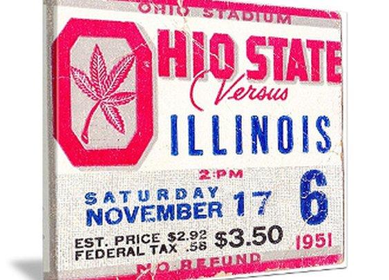 Ohio State Buckeyes canvas art, Ohio State football art, Woody Hayes