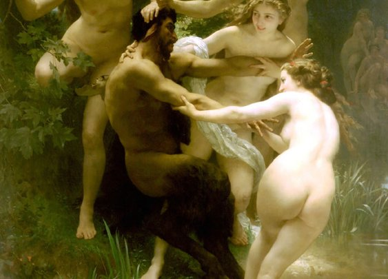 William Bouguereau- Nymphs and Satyr