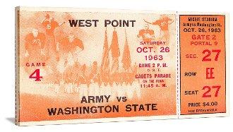 1963 Army Football Ticket Art. College football art.