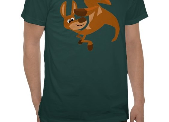 Cute Cartoon Kangaroo's Somersault T-Shirt by Cheerful Madness!! at Zazzle