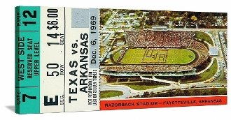 College football art. 1969 Game of the Century. Father's Day football gifts.