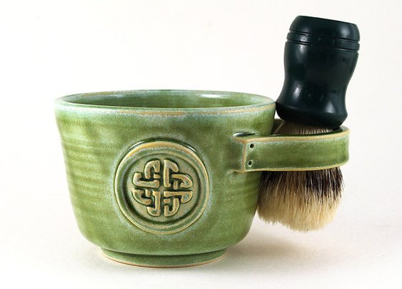 Shaving Mug with a Celtic Knot by MiriHardyPottery