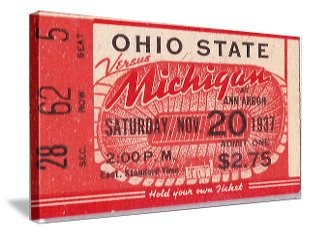 College football art. Father's Day Gifts for Sports Fans. Football Ticket Art.