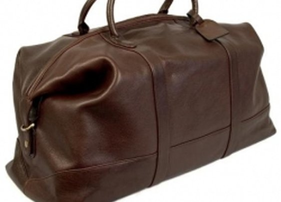 Mens Italian Leather Duffel Bag Dr. Koffer D004 Churchill Travel Bag