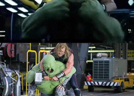 Making of Avangers - Hulk fight