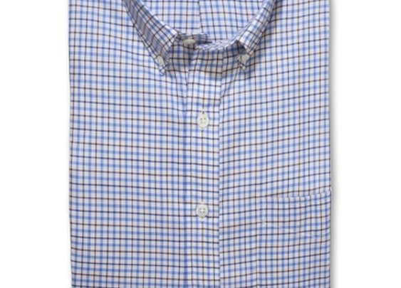 Hamilton Shirts - The 1883 Classic (Blue and Brown Tattersall)