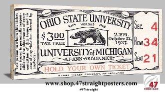 Michigan football art, Michigan Wolverine Football Gifts, 47 STRAIGHT™