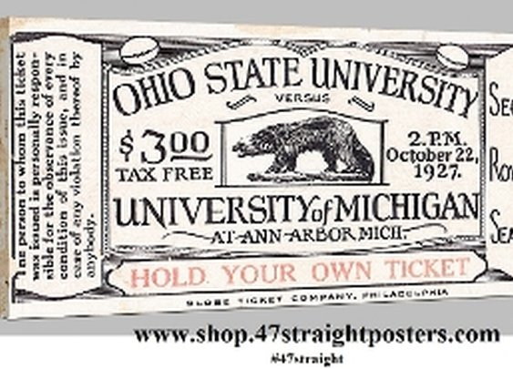 Michigan football art, Michigan Wolverine Football Gifts, 47 STRAIGHT™