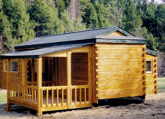 The Portable Cabin:  Natural Log RV