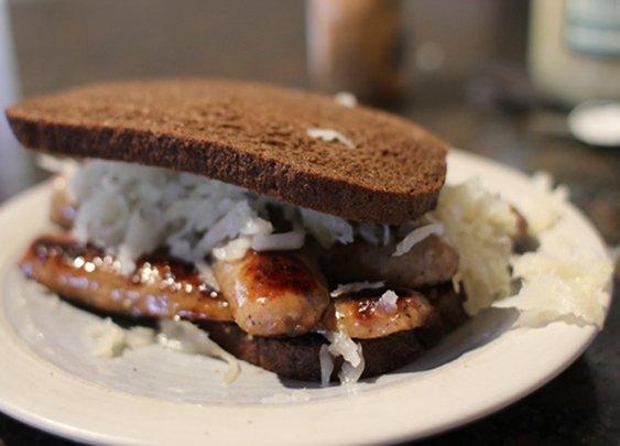 Bratwurst Sandwich | The Art of Manliness