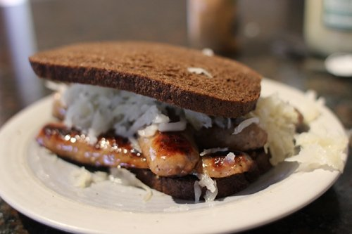 Bratwurst Sandwich   The Art of Manliness