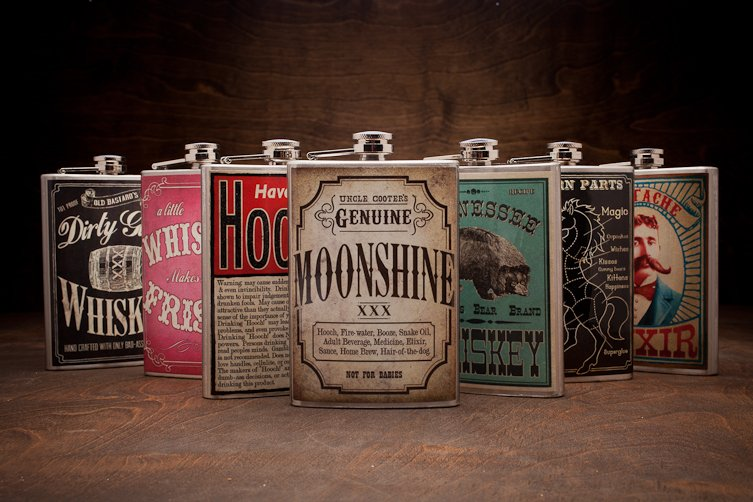 Saucy Hip Flasks | Trixie & Milo | Bourbon & Boots