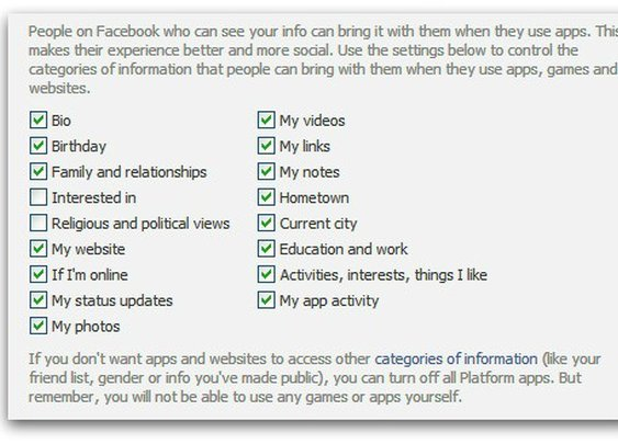 How to stop your friends' Facebook apps from accessing your private information | Naked Security