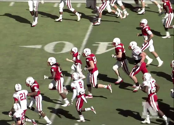 Jack Hoffman with a 69 yard touchdown in the 2013 Nebraska Spring Game - YouTube