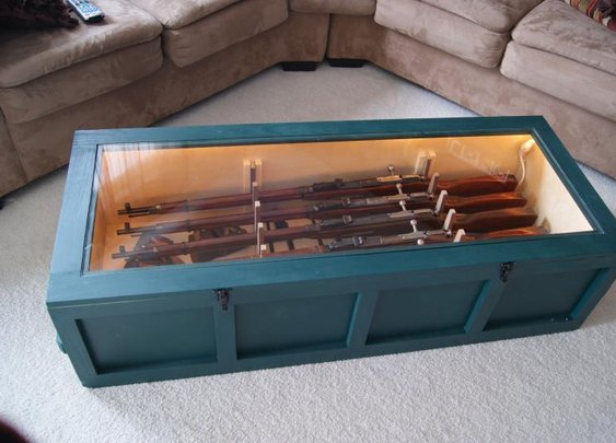 Coffee Table Rifle Display - Mosin Nagant style !