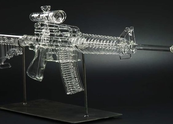 AR-15 Glass Smoking Pipe