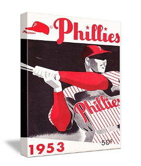Philadelphia Phillies Father's Day Gifts, Vintage Baseball art