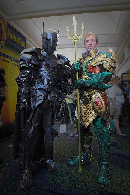 Batman & Aquaman Medieval Garb