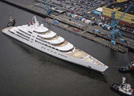 Azzam, world's largest superyacht launched in Germany