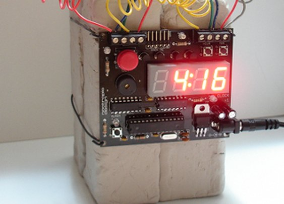 Defusable (and Hackable) Alarm Clock