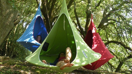 Cacoon hanging treehouse for all ages