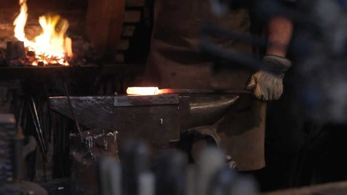 The Birth Of A Tool. Part III. Damascus steel knife making (by John Neeman Tools) - YouTube