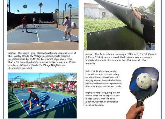 Acoustifence Reduces Pickleball Court Noise by More Than 50 Percent USA Pickleball Association Test Shows
