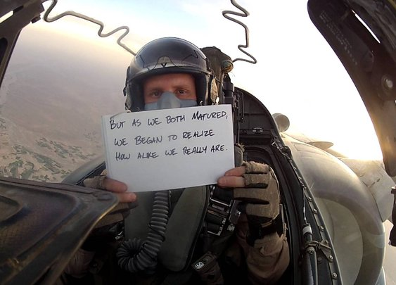 Wedding message from the skies over Afghanistan [VIDEO]