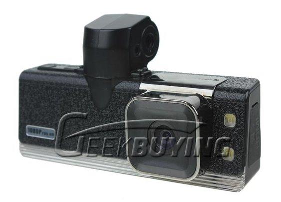 GS2000 1.5 inch LCD Screen 120 Degree Angle Lens 5 Mega Pixels Full HD 1080P Car DVR Camera with GPS /G-Sensor /AV Output - Black - GeekBuying.com