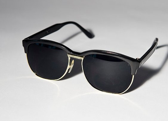 Black And Gold Clubmaster Sunglasses A44 by Awake87 on Etsy