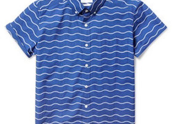 Saturdays Surf NYC Esquina Short-Sleeved Wave-Print Cotton Shirt | MR PORTER
