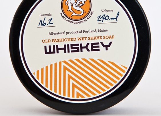 WHISKEY old-fashioned wet shave soap from Portland General Store