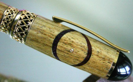 Handcrafted wood Fountain Pen hand made Xs and Os by Hope & Grace Pens