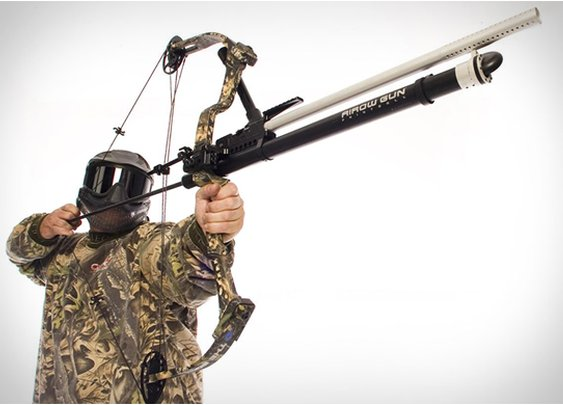 BOW-MOUNT PAINTBALL AIROW GUN